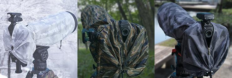カモフラージュレインカバーDX,撮影,雨具,野鳥,飛行機